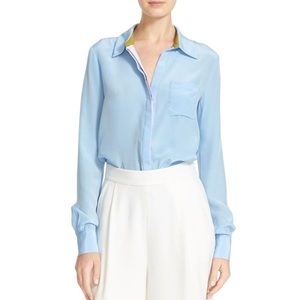 Diane von Furstenberg Powder Blue Carter Blouse